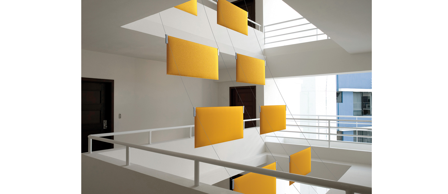 BAFFLE SOUND ABSORBING CEILING SYSTEM