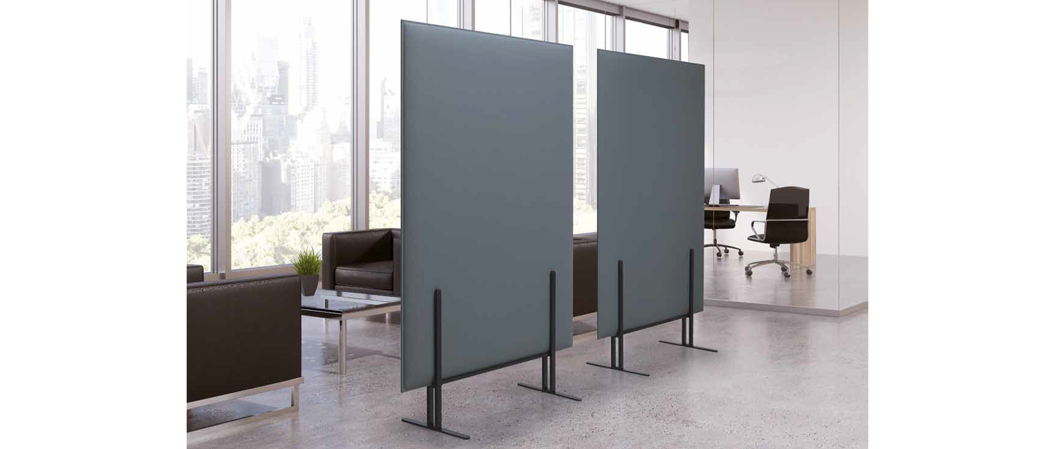 Flat totem sound absorbing panels